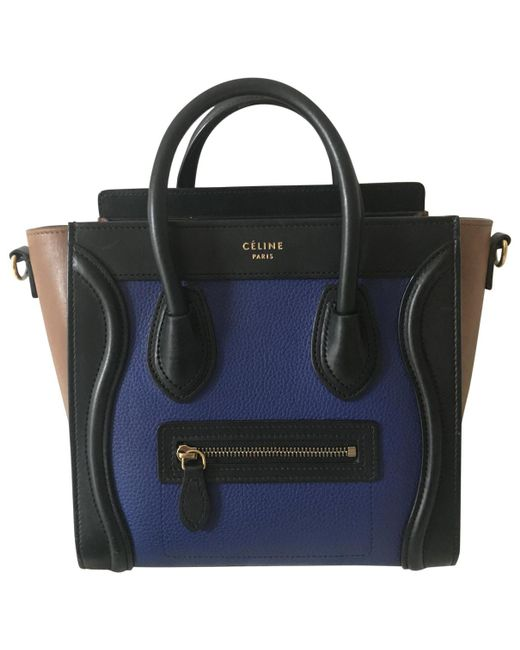 Céline - Black Pre-owned Nano Luggage Leather Handbag - Lyst