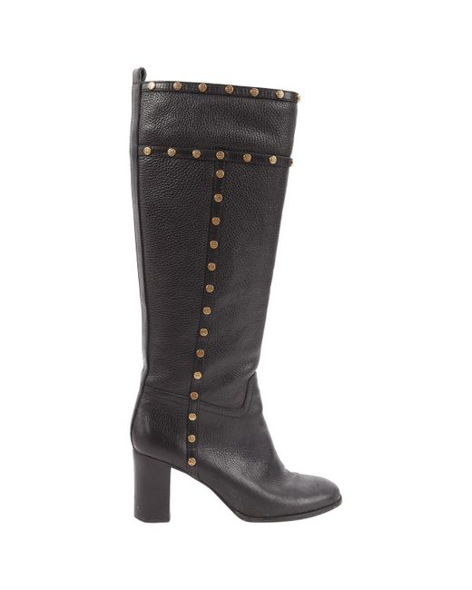 Tory Burch - Black Leather Boots - Lyst
