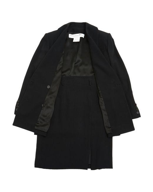 Dior - Black Pre-owned Suit Jacket - Lyst