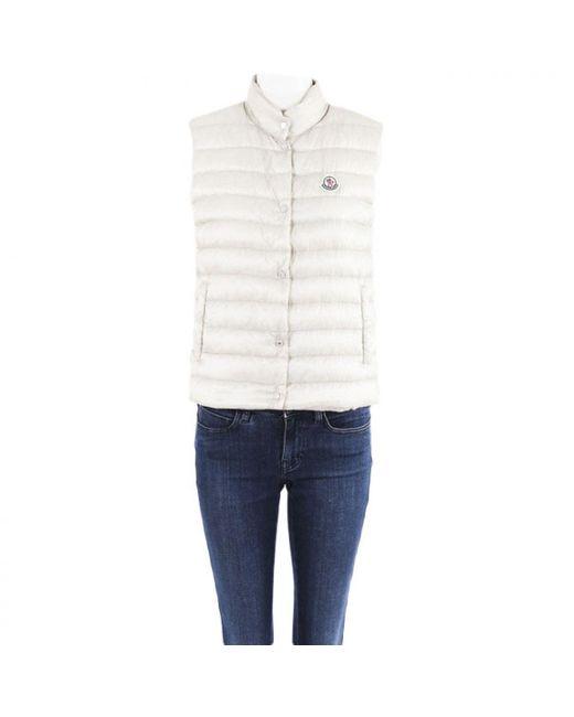 Moncler White Ecru Synthetic Coat