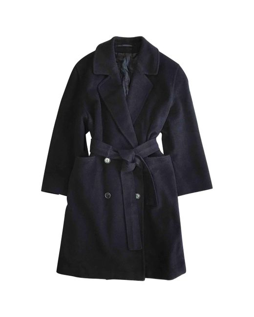Burberry - Blue Pre-owned Wool Coat - Lyst
