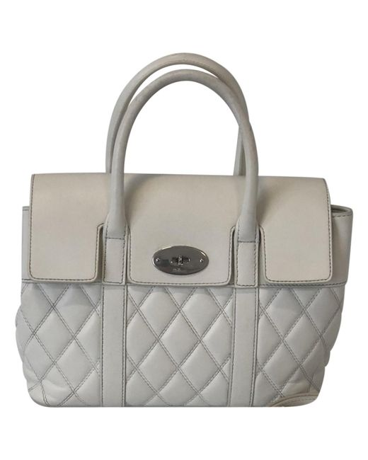 d9aea05232 Lyst - Mulberry Pre-owned Bayswater White Leather Handbags in White