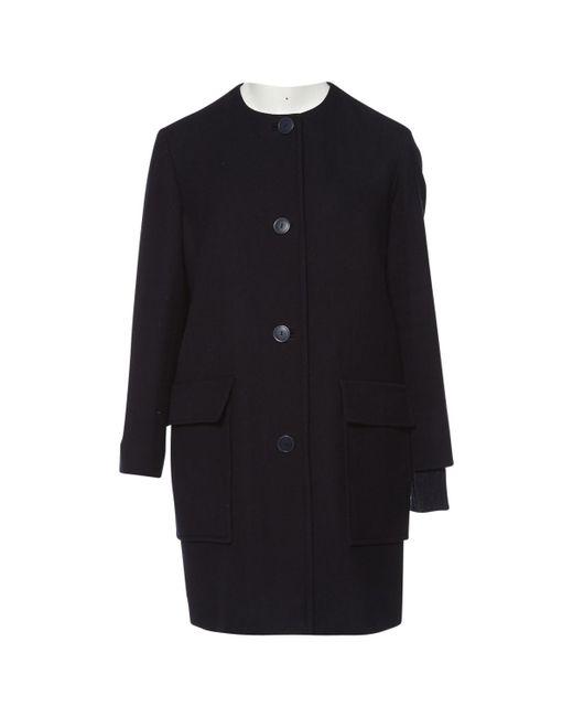 Stella McCartney - Blue Wool Coat - Lyst