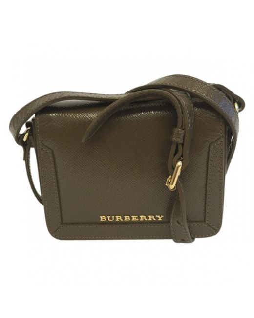 Burberry - Natural Beige Patent Leather Handbag - Lyst