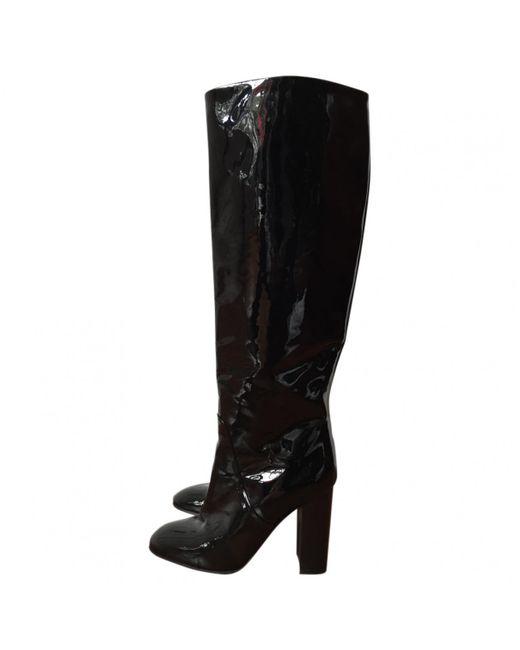 Bottega Veneta - Black Patent Leather Boots - Lyst
