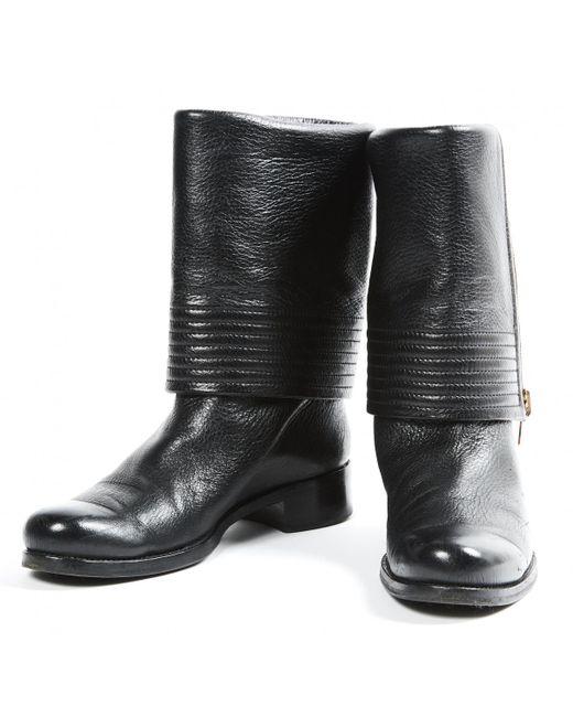 099d758e2899 ... Louis Vuitton - Black Leather Boots - Lyst