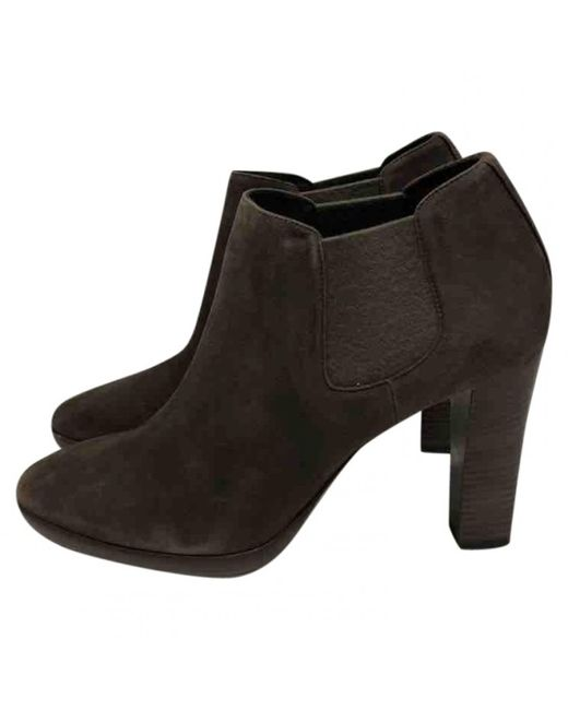 Loro Piana - Brown Ankle Boots - Lyst