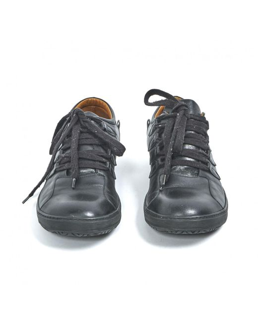 official photos 48ef4 64b63 dries-van-noten-Black-Pre-owned-Leather-Low-Trainers.jpeg