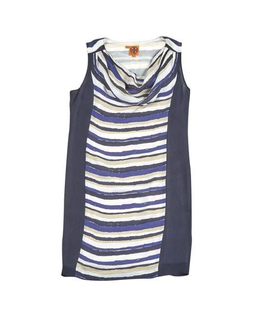 Tory Burch - Blue Pre-owned Silk Mini-dress - Lyst