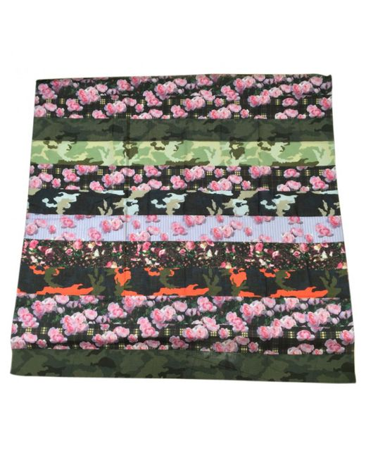 Givenchy - Green Multicolour Cotton Scarf - Lyst