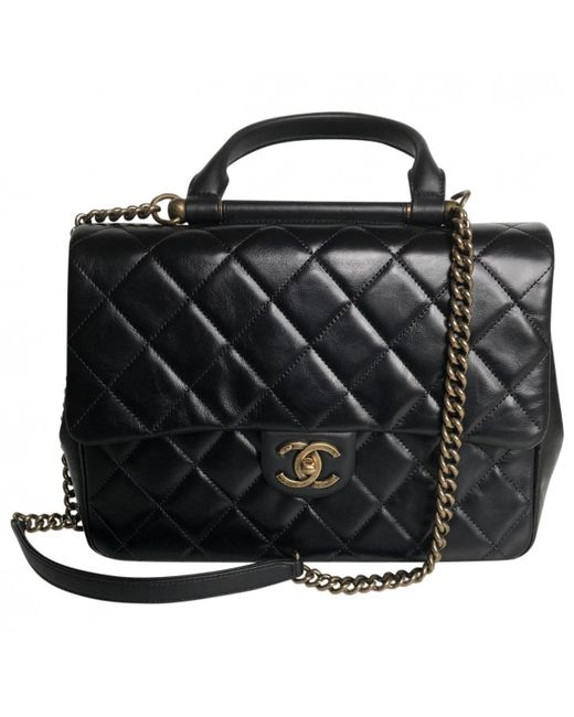 Chanel - Black Pre-owned Business Affinity Leather Handbag - Lyst