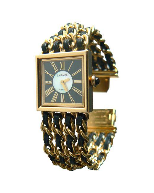 Chanel - Metallic Mademoiselle Yellow Gold Watch - Lyst