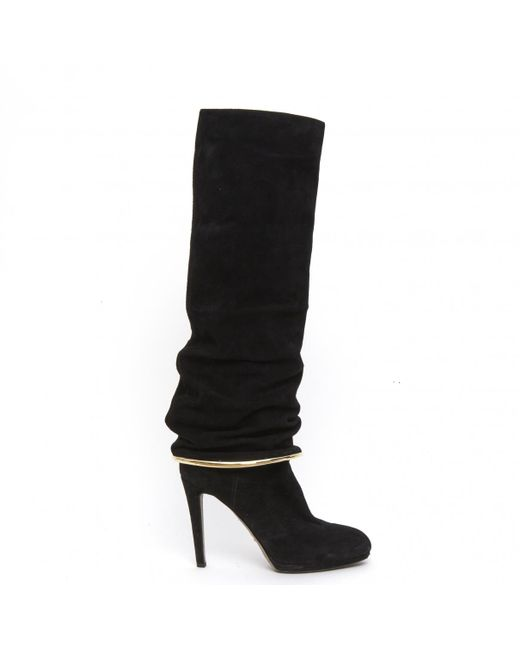 Sergio Rossi - Black Suede Boots - Lyst