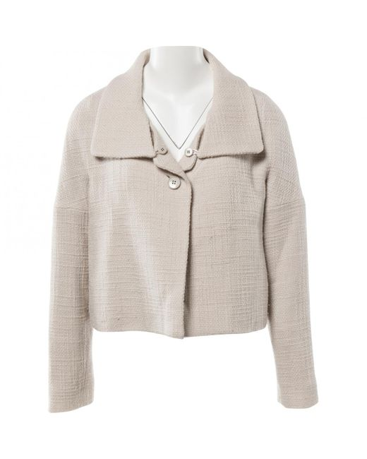 Chloé - Natural Pre-owned Beige Wool Coats - Lyst