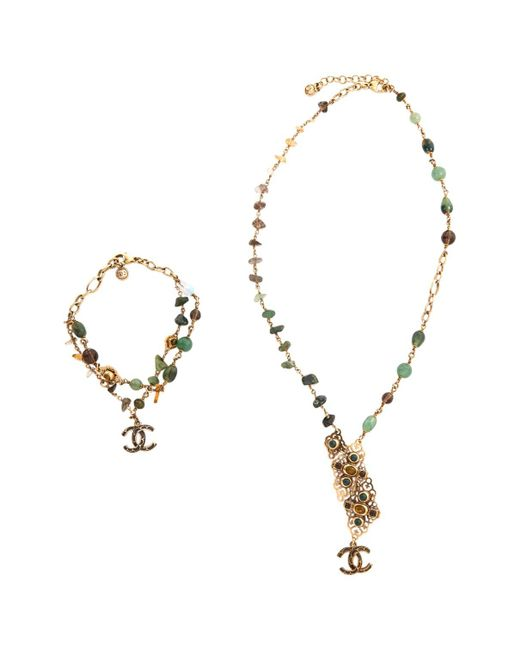 Chanel - Green Pre-owned Jewellery Set - Lyst