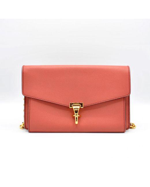 Burberry - Red Leather Handbag - Lyst