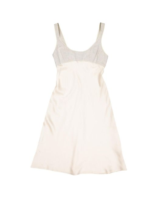 Narciso Rodriguez Natural Ecru Silk Dress
