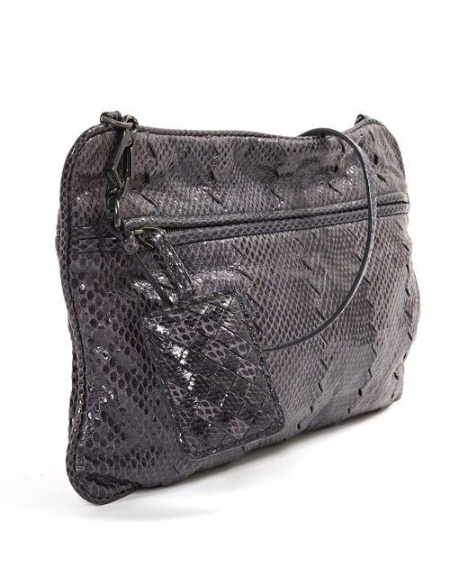 Bottega Veneta Purple Python Handbag in Purple - Lyst 28c261bf93e4d