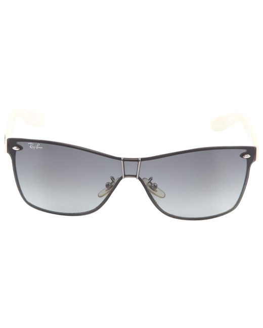071cb4a16f712 Lyst - Ray-Ban Pre-owned White Plastic Sunglasses in White