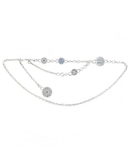 Chanel - Metallic Pre-owned Silver Metal Necklaces - Lyst