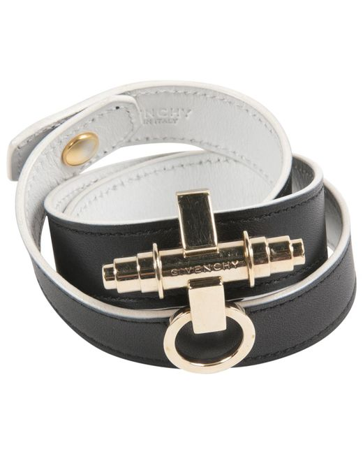 Givenchy | Black Pre-owned Leather Bracelet | Lyst