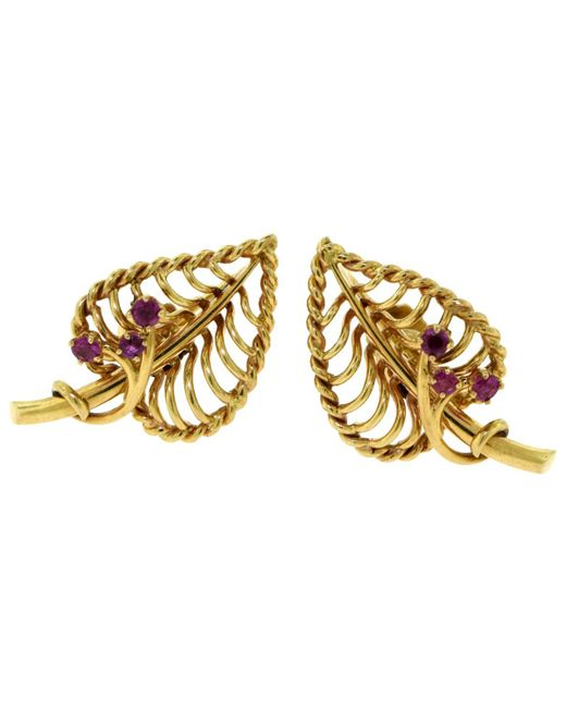 Cartier - Metallic Yellow Gold Earrings - Lyst