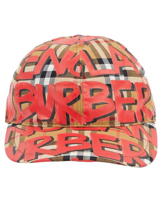 Burberry - Red Pre-owned Multicolour Cloth Hats - Lyst