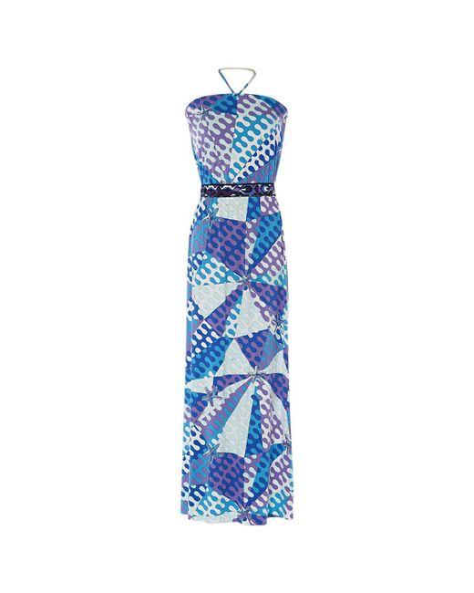 60971648916f6 Emilio Pucci - Blue Multicolour Viscose Dress - Lyst ...