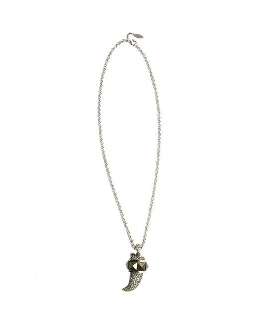 Roberto Cavalli - Metallic Silver Metal Necklace - Lyst