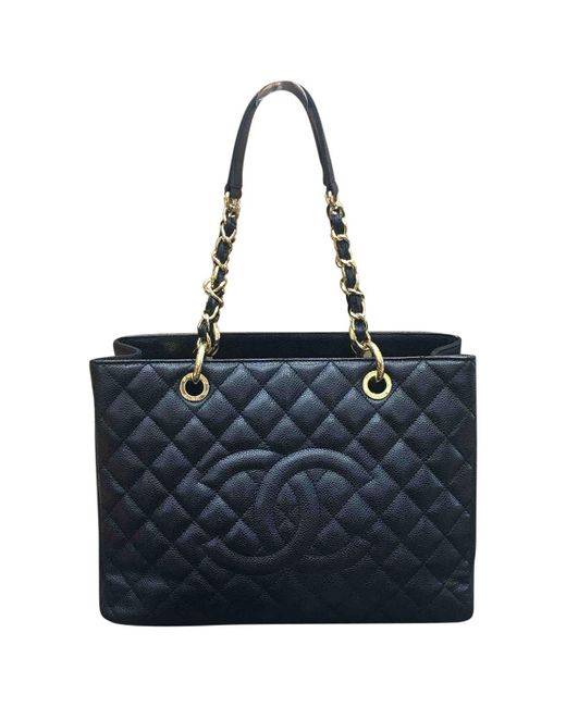 Chanel | Black Pre-owned Grand Shopping Leather Tote | Lyst