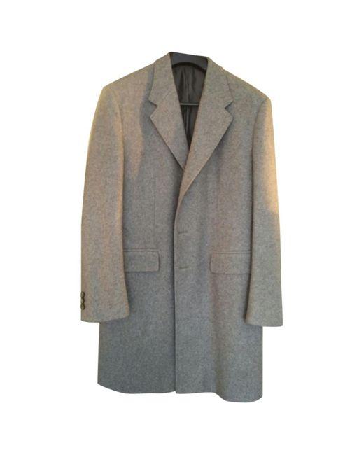 Jil Sander - Gray Grey Cashmere Coat for Men - Lyst