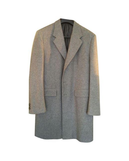 Jil Sander - Gray Pre-owned Cashmere Coat for Men - Lyst