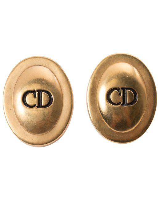 Dior   Metallic Pre-owned Earrings   Lyst
