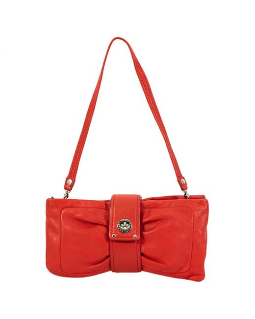 Marc By Marc Jacobs - Red Pre-owned Leather Clutch Purse - Lyst