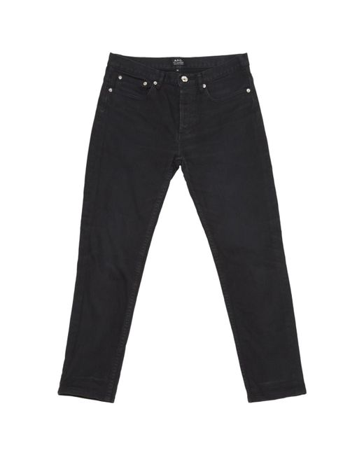 A.P.C. - Black Pre-owned Slim Jeans - Lyst