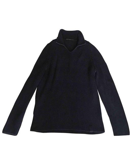Louis Vuitton - Blue Pre-owned Navy Cotton Knitwear & Sweatshirt for Men - Lyst