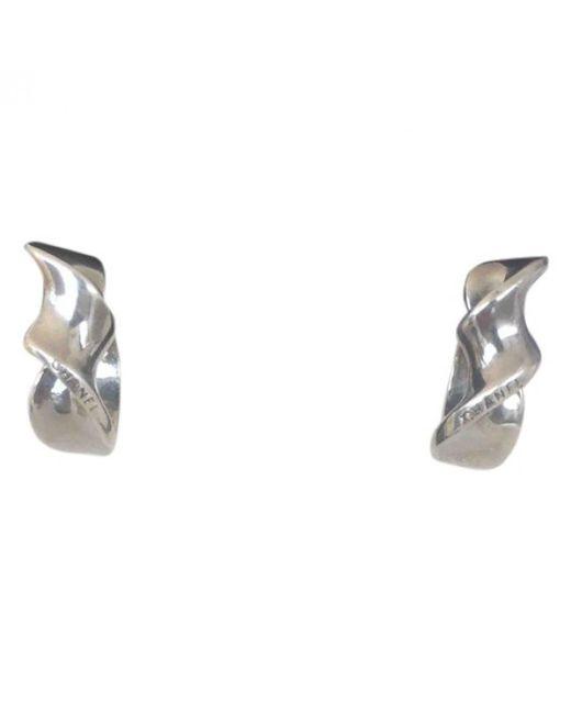 Chanel - Metallic Pre-owned Silver Earrings - Lyst