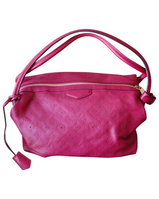 Louis Vuitton   Pink Pre-owned Mahina Leather Handbag   Lyst