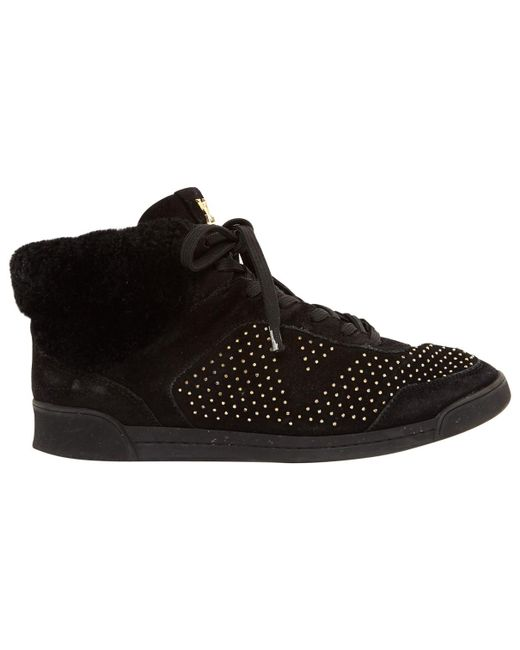 Louis Vuitton - Black Pre-owned Trainers - Lyst