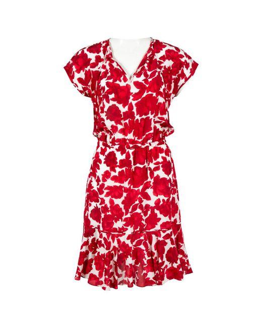 Carolina Herrera - Red Silk Mini Dress - Lyst