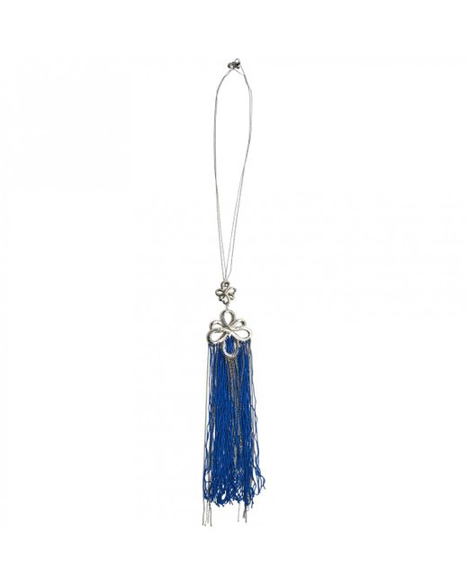 Chanel - Blue Pre-owned Silver Necklace - Lyst