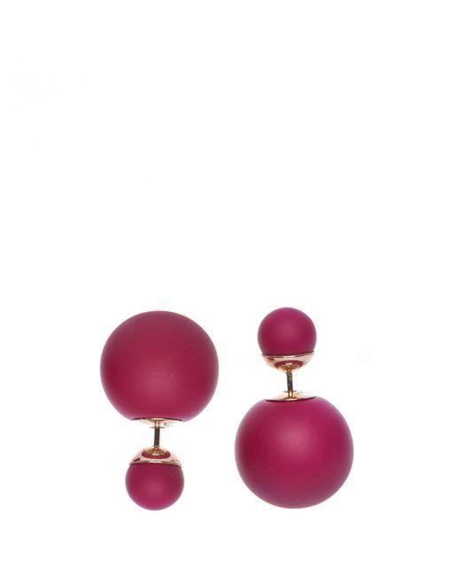 Dior - Pink Earrings - Lyst