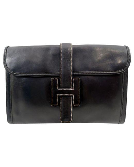 Hermès Pre-owned - Blue Leather Clutch bag Jige XzMF9aDTMe