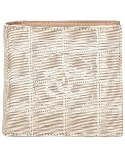 Chanel | Brown Pre-owned Cloth Wallet | Lyst