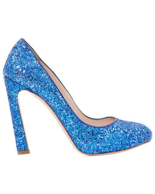 Miu Miu - Blue Glitter Heels - Lyst