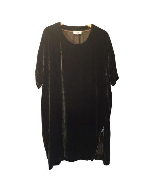 Étoile Isabel Marant - Black Velvet Zip Dress - Lyst