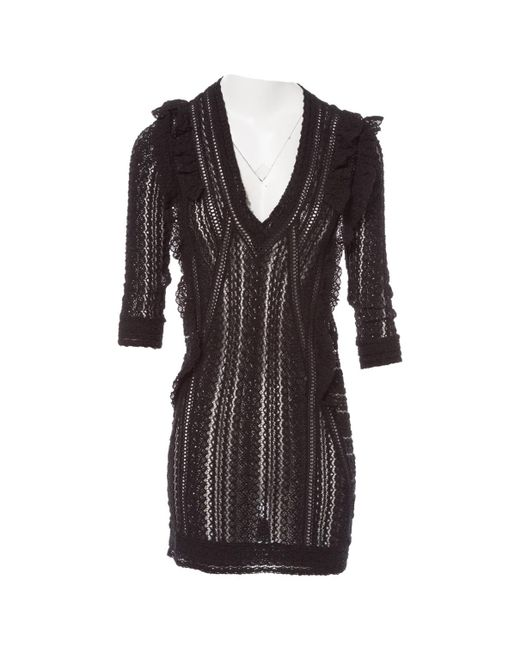 IRO - Black Pre-owned Mini Dress - Lyst