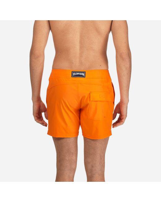 d591895b6b ... Vilebrequin - Orange Men Flat Belt Stretch Swimtrunks Solid for Men -  Lyst ...