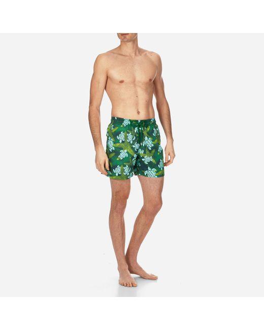 Vilebrequin - Green Men Long Swimwear Starlettes & Turtles Vintage for Men - Lyst