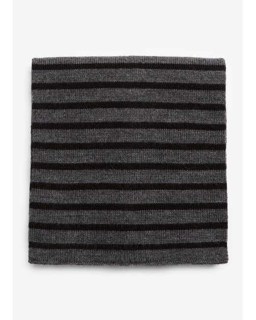 Vince | Black Striped Ribbed Merino Wool Scarf for Men | Lyst
